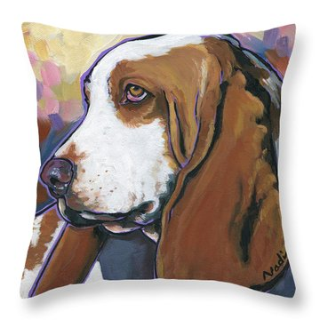 Shorty Throw Pillow by Nadi Spencer