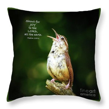 Throw Pillow featuring the photograph Shout For Joy by Kerri Farley