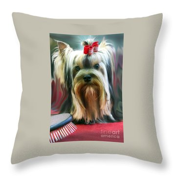 Show Girl Throw Pillow by Graham Hawcroft pixsellpix