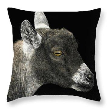 Show Goat Throw Pillow