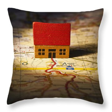 Show Me The Way To Go Home Throw Pillow by Jan Bickerton