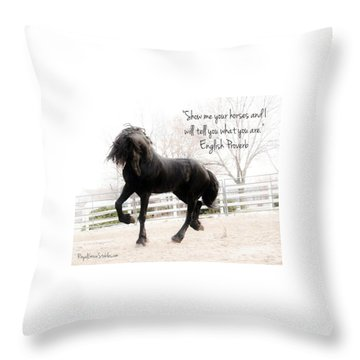 Show Me Your Horse Throw Pillow