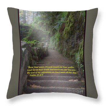 Show Me Your Ways, O Lord Throw Pillow