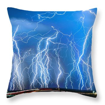 Show On Broadway Ave Throw Pillow