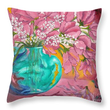 Shower Of Pink Throw Pillow
