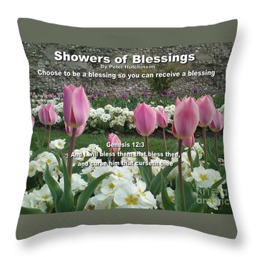 Showers Of Blessings Throw Pillow