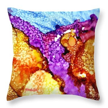 Showers Over Desert Throw Pillow