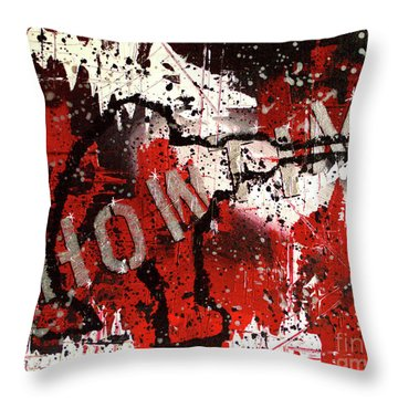 Showtime At The Madhouse Throw Pillow
