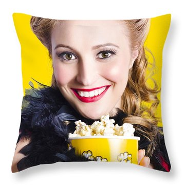 Showtime On Broadway Throw Pillow