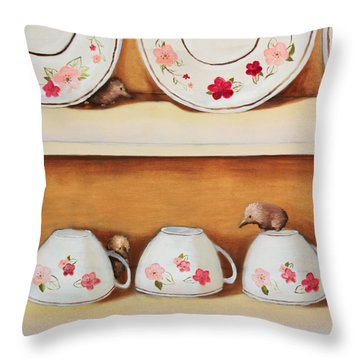 Shrews Throw Pillow