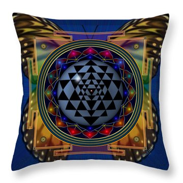 Shri Yantra 1 Throw Pillow