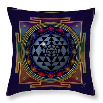 Shri Yantra Throw Pillow