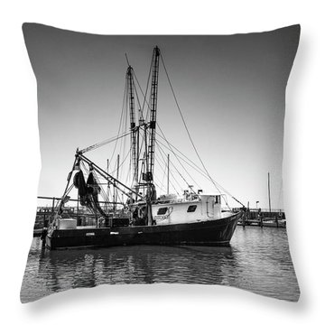 Shrimp Boat Throw Pillow