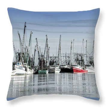 Shrimper's Day Is Done Throw Pillow