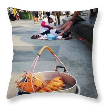 Throw Pillow featuring the photograph Shrimping And Crabbing On The by Mr Photojimsf