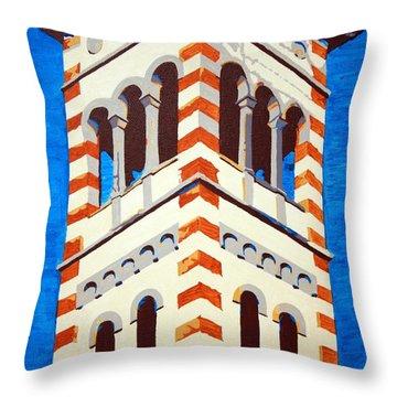 Shrine Bell Tower Detail Throw Pillow by Sheri Buchheit
