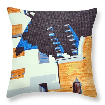 Shrine Corbels Detail Throw Pillow by Sheri Buchheit