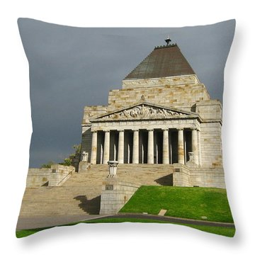 Shrine Of Remembrance Throw Pillow