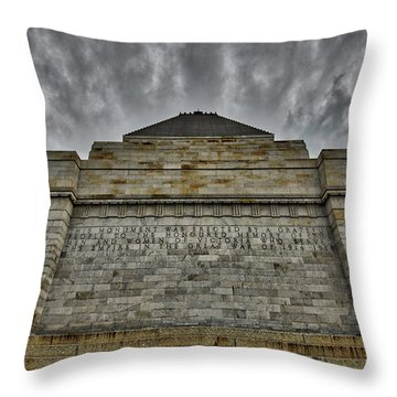 Throw Pillow featuring the photograph Shrine Of Remembrance by Ross Henton