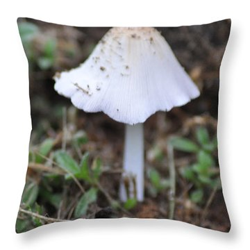 Shroom Throw Pillow by Bill Cannon