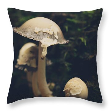 Shroom Family Throw Pillow by Shane Holsclaw
