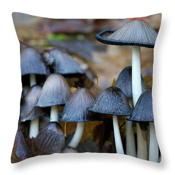 Shrooms Gone Bad Throw Pillow