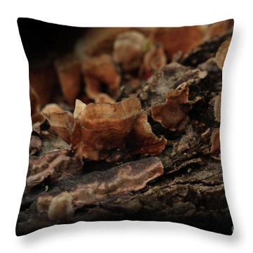 Throw Pillow featuring the photograph Shrooms by Kim Henderson
