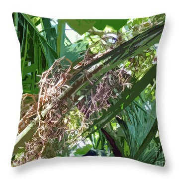 Throw Pillow featuring the digital art Shrub In Tree Art by Francesca Mackenney