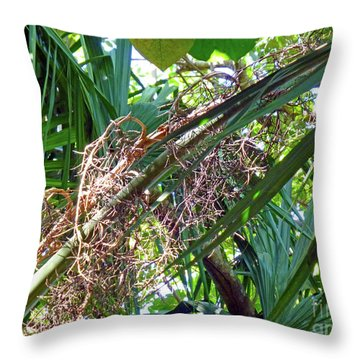 Throw Pillow featuring the photograph Shrub In Trees Contrast by Francesca Mackenney