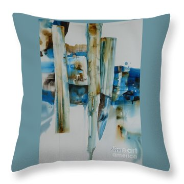 Shuffling Memories Throw Pillow