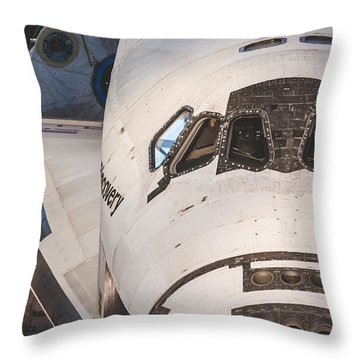 Shuttle Close Up Throw Pillow by David Collins