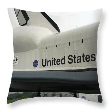 Shuttle Throw Pillow by David S Reynolds