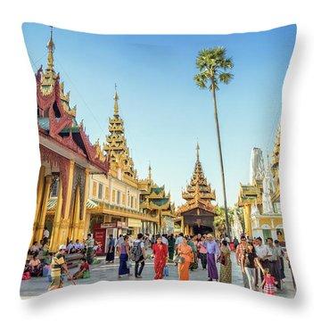 Shwedagon Pagoda Throw Pillow