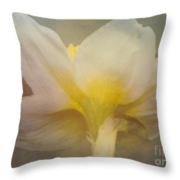 Shy Blossom Throw Pillow