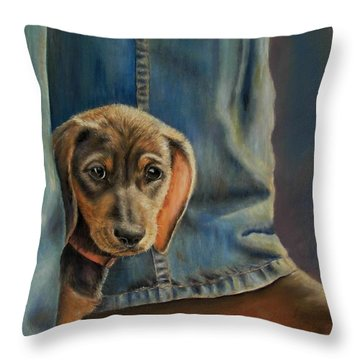 Shy Boy Throw Pillow