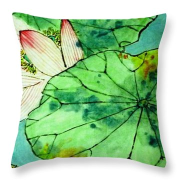 Shy Lotus Throw Pillow