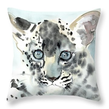 Shy Throw Pillow by Mark Adlington