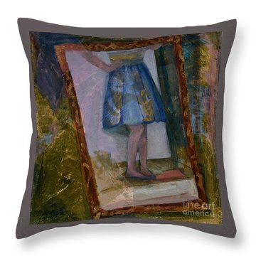 Shy Reflection Throw Pillow