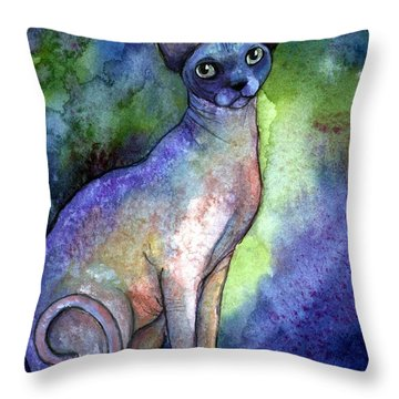 Shynx Cat 2 Painting Throw Pillow by Svetlana Novikova