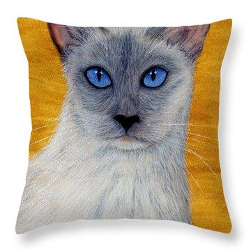 Throw Pillow featuring the pastel Siam by Jan Amiss