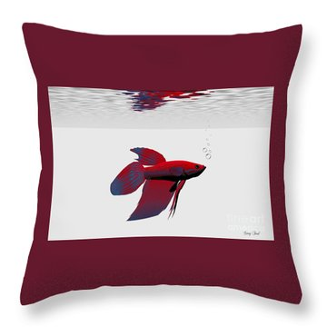Siamese Fighting Fish Throw Pillow by Corey Ford
