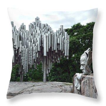 Sibelius Monument Throw Pillow