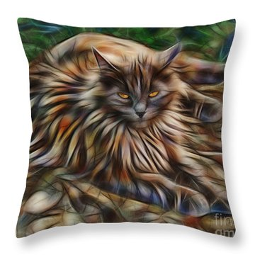 Siberian Attitude Throw Pillow