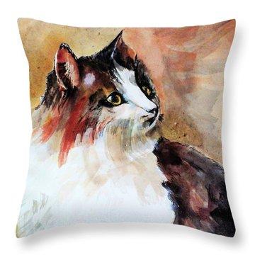 Siberian Forest Cat Throw Pillow
