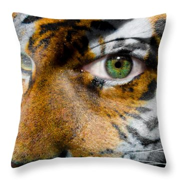 Siberian Man Throw Pillow by Semmick Photo