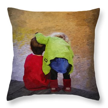 Sibling Love Throw Pillow by Brian Wallace