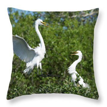 Sibling Rivalry Throw Pillow