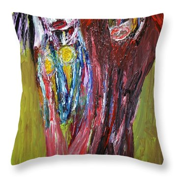 Siblings   Throw Pillow by Darrell Black