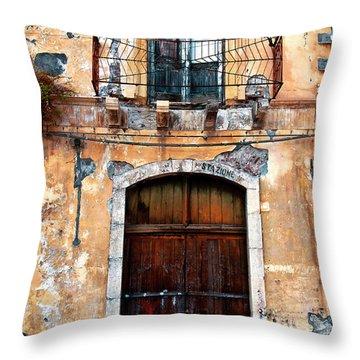 Sicilian Facade Throw Pillow