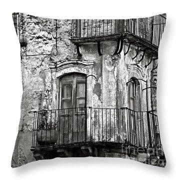 Sicilian Medieval Facade Throw Pillow